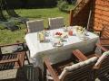 Terrasse mit Frühstück